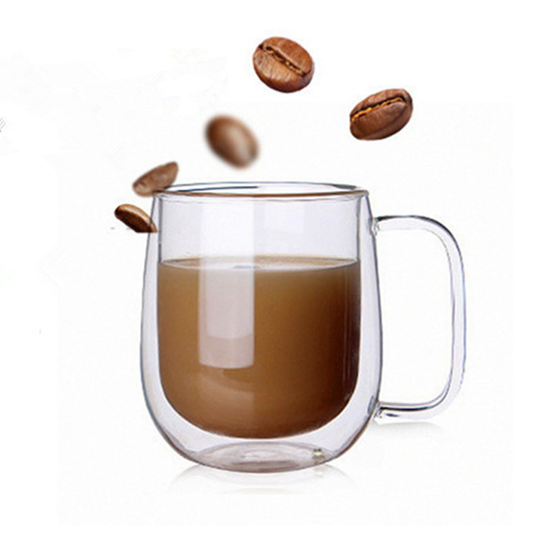 Image 4 - Double Coffee Mugs With the Handle Mugs Drinking Insulation Double Wall Glass Tea Cup Creative Gift Drinkware Milk-in Transparent from Home & Garden