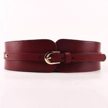 100% cowskin cinto largo para mulheres de alta qualidade ceinture femme cintura elástica feminino vintage fivelas cinto de couro genuíno