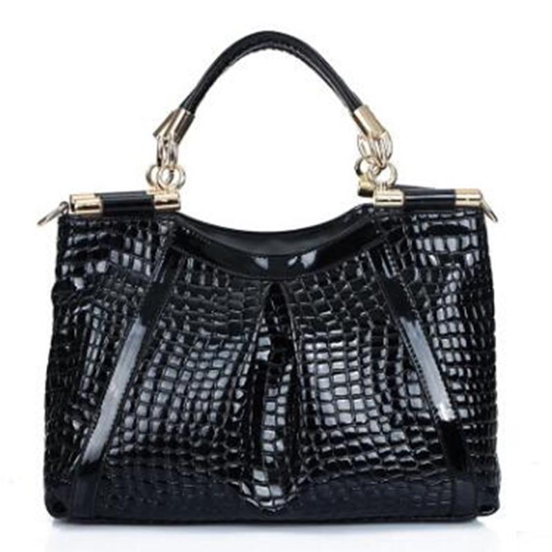 ФОТО Women Corcodile Leather Handbags Designer Hobos Large Tote CrossBody Shoulder Bag Lady Luxury Alligator Pattern Messenger Bags
