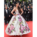 Sonam Kapoor Celebrity Dresses Petal Power Cannes Floor Length Ball Gown Evening dress  Floral Printed Gowns