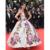 Sonam Kapoor Vestidos Pétalo De Cannes Celebrity Suelo Longitud del vestido de Bola del vestido de Noche Impreso Floral Vestidos