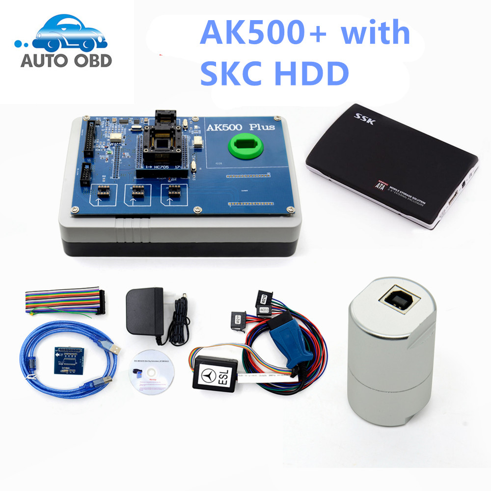 Newest AK500 Pro AK500 Key Programmer for Mercedes Benz With EIS SKC Calculator + HDD database hard disk full set