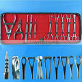 Top 10pcs Stainless Steel Body Piercing Tool Kits for Ear Navel Nose Supply Free Shipping