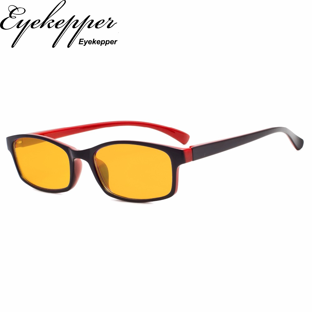 XCG177 Eyekepper Block Blue Reading Glasses with Magnification Visible Coating Amber Tinted Lens