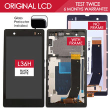 100% Tested TFT 1920×1080 LCD Screen For SONY Xperia Z Display Touch Screen Digitizer with Frame L36h L36i C6606 C6603 C6602