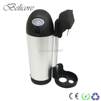 EU US no tax 250W ebike battery 36V 12Ah bottle electric bicycle battery pack with charger