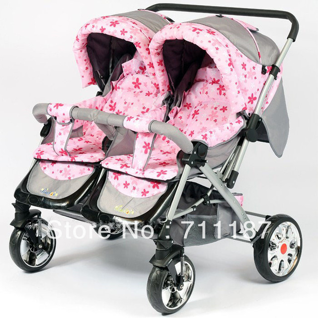 2013 Cheap Twins Pram Double Stroller Side Double Seat Car