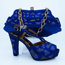2016 Iitailn Design Women Shoes And Bag Set High Quality African Style High Heels Shoes And Bag Set For Party Size 38-42 CP63009