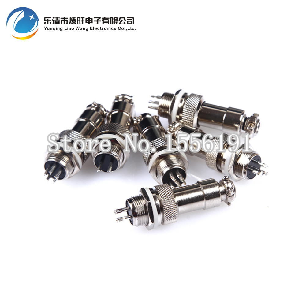 10 sets kit 2 PIN 12mm GX12 2 Screw Aviation Connector Plug The aviation plug Cable connector Regular plug and socket in Connectors from Lights Lighting