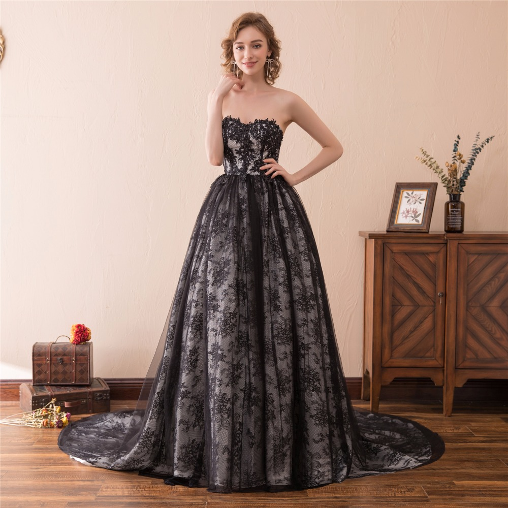 Black Ball Gown Prom Dresses 2018 Sweetheart Floor Length African ...