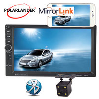7'' inch Mirror For Android Phone 10 Languages USB Mirror Link Screen Touch Screen Bluetooth Car Radio MP5 Player 2Din Video FM
