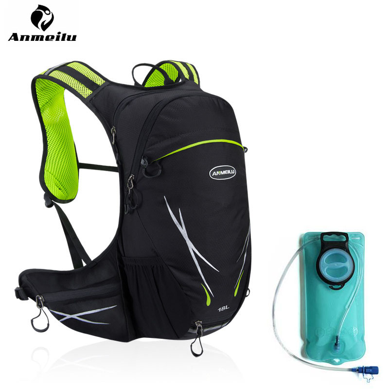 ANMEILU 18L Cycling Motorcycle Bike Bag Cycling Backpack Hydration Pack Ultralight Mountain Bicycle Backpack With 2L Water Bag 3l tactical water bottle bag knapsack hydration backpack pouch hiking camping cycling pack canteen water bag molle