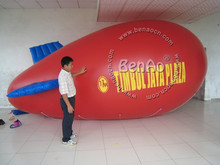 AO097 Free shipping customized logo New 4m Inflatable PVC Blimp / Airship/ Airplane/ inflatable zeppelin helium