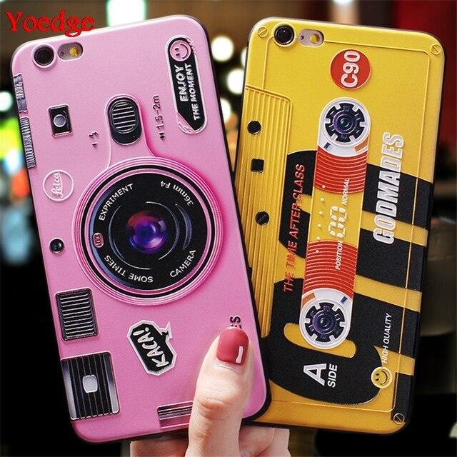 3D Cứu Trợ Camera Ốp Lưng Dành Cho Samsung Galaxy Samsung Galaxy S10 S10E S8 S9 S7 Edge M20 M10 J4 J6 Plus A9 A8 a7 2018 Note 8 9 A30 A50 A70 TPU Cover