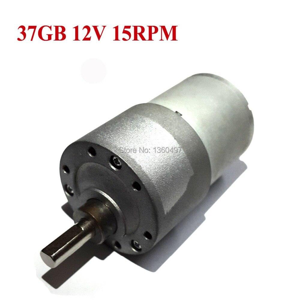 12V DC 15RPM High Torque Gear Box Electric Motor New