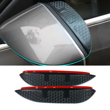 Diseño de Coches de Carbono Protector De Lámina Flexible A Prueba de Lluvia espejo retrovisor lluvia ceja Accesorios Para CHEVROLET Captiva 2011-2015