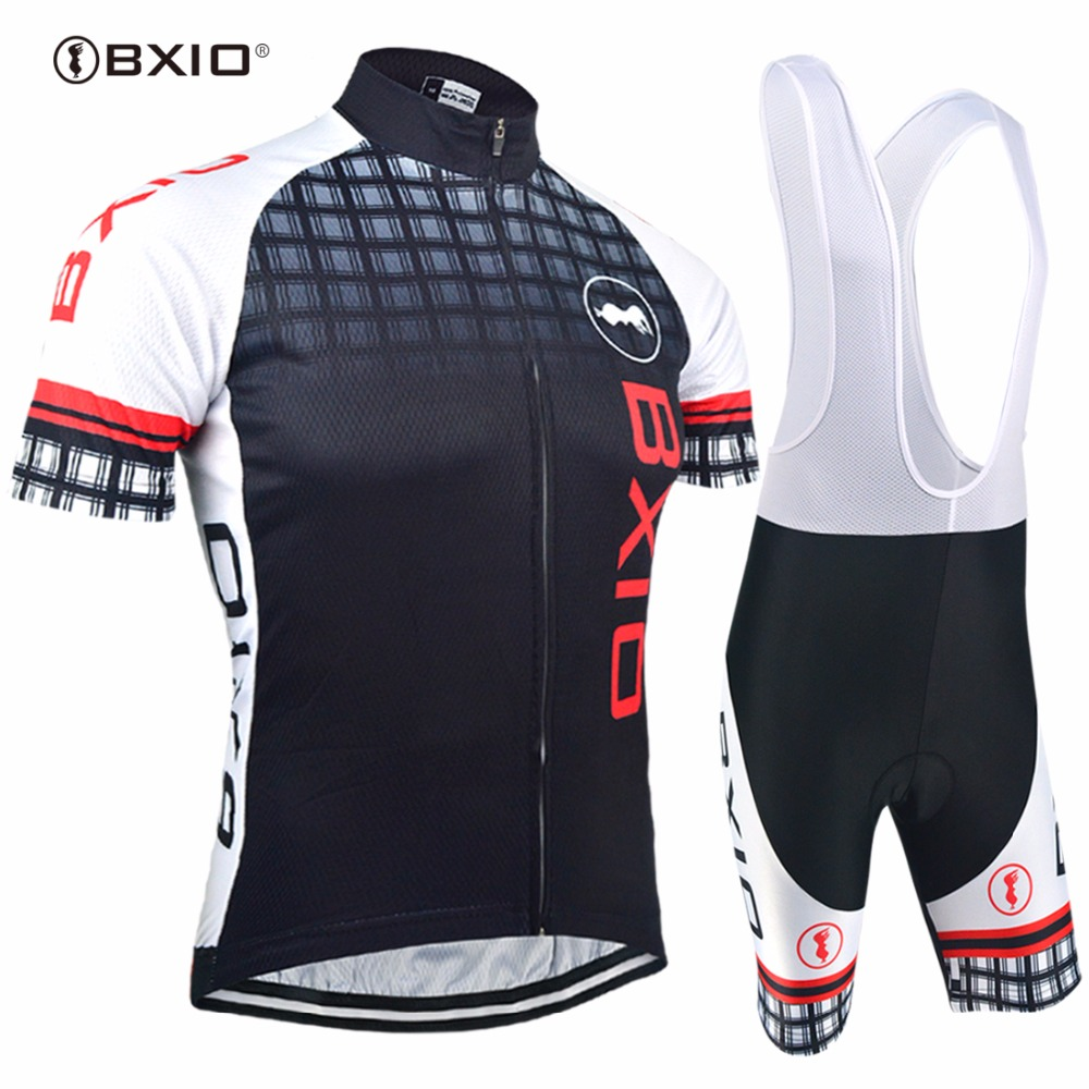 Bxio Cool Cycling Sets Breathable Outdoor Men Pro Cycle Jerseys Short Sleeves Bicycle Clothes Breathable Quipacion Ciclismo 012