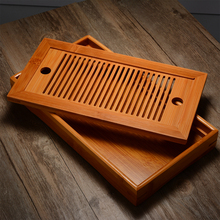 25*14*3.5cm Rectangle Chinese Gongfu Tea High Quality Bamboo Tray Serving Food Coffee Cutlery