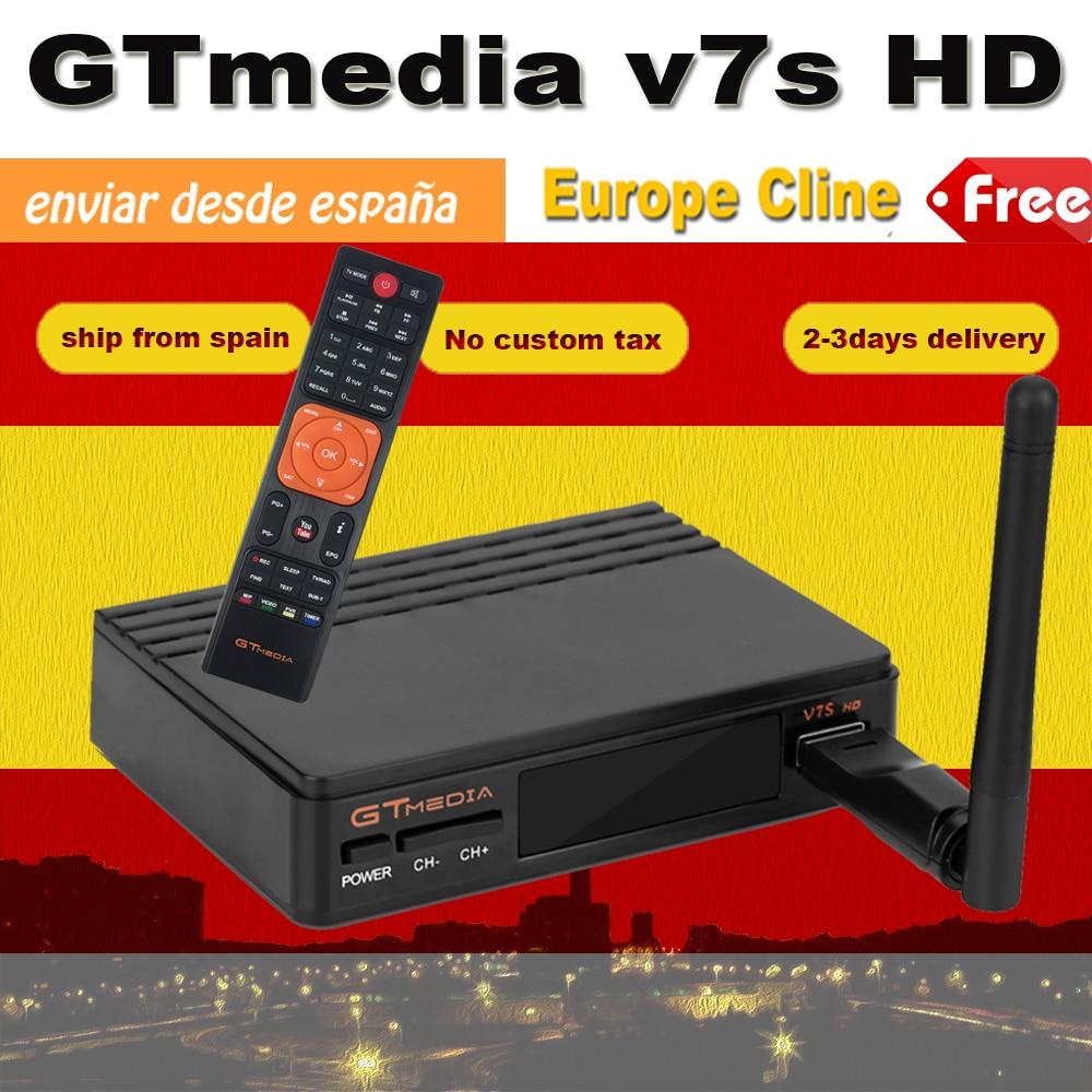 Heißer DVB-S2 Satellite TV Empfänger Freesat V7 upgrade zu Gtmedia V7S mit USB WIFI Unterstützung Netzwerk Sharing Senden aus Spanien