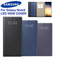 Original Samsung LED View Cover Smart Cover Phone Case for Samsung Galaxy Note8 N9500 N950F Note 8 Sleep Function Card Pocket