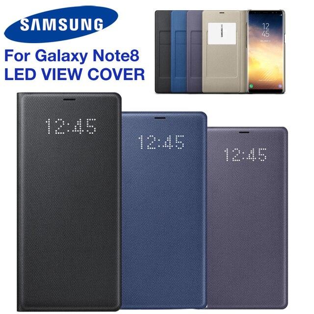 Original samsung led vista capa inteligente capa de telefone para samsung galaxy note8 n9500 n950f nota 8 função sono cartão bolso