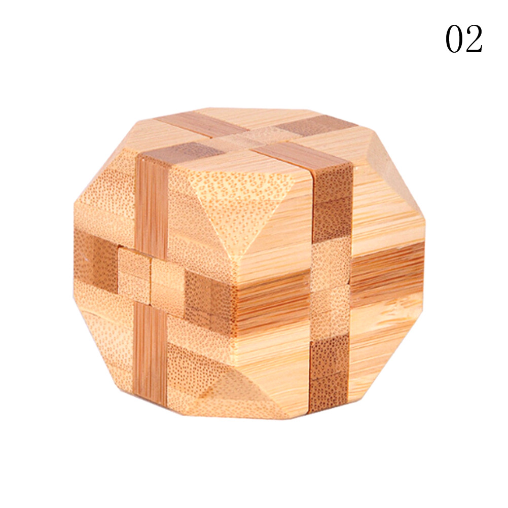 Kong Ming Luban Lock Kids Children 3D Handmade Wooden Toy Adult Intellectual Brain Tease Game Puzzle 8