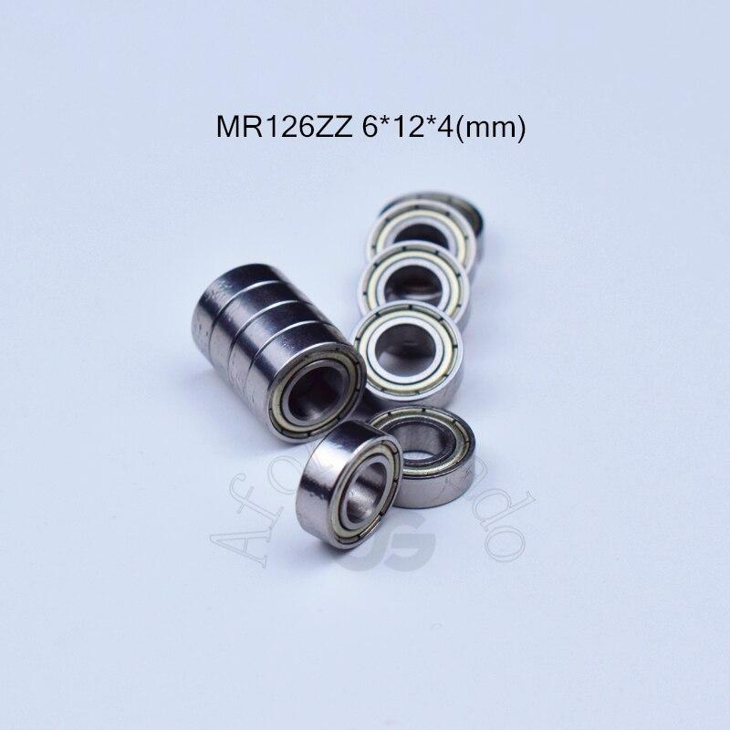 MR126ZZ 6*12*4(mm) 10pieces ABEC-5 bearing Metal Sealed Miniature Bearing Free shipping MR MR126 MR1