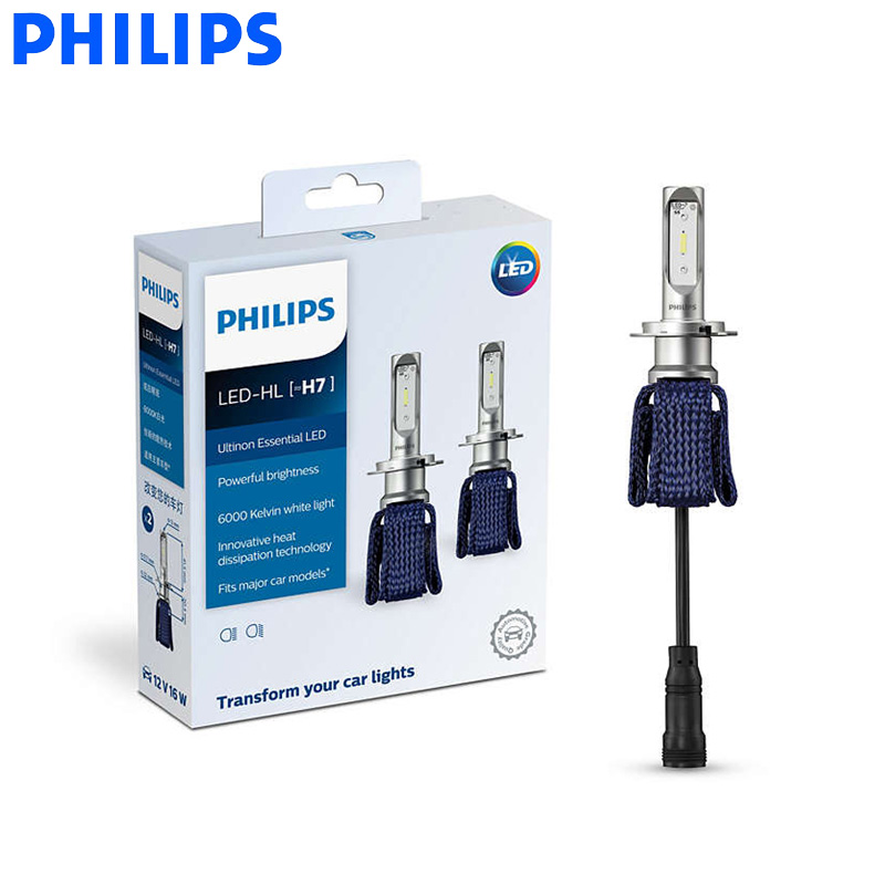 Philips LED H7 Ultinon Essential LED Car Bulbs 6000K Bright White Light Auto Headlight Innovative Heat
