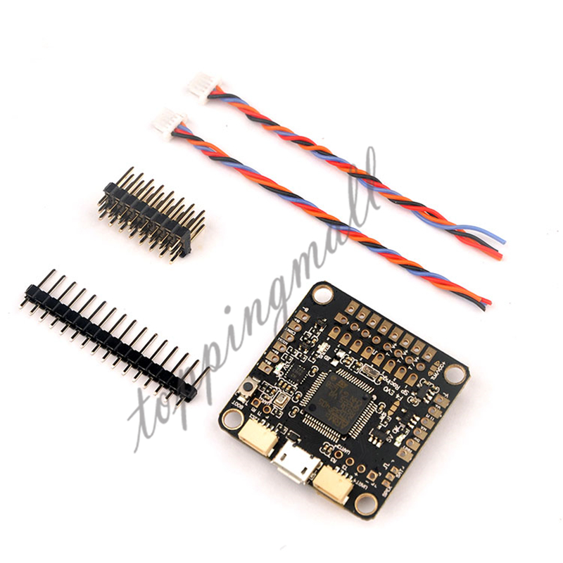 SP Racing F4 EVO Flight Controller 2 6S Built in BEC Barometer Voltage Sensor FC for