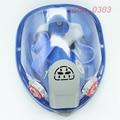 6800 de Silicona de La Cara Llena Máscara De Gas Respirador Para Pintar Pulverización Gran Vista