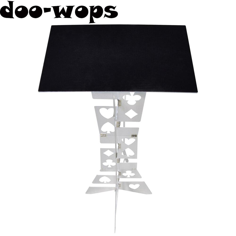 Mesa plegable mágica de aluminio (aleación)-La mejor mesa de trucos de Magia de mago de Color plateado