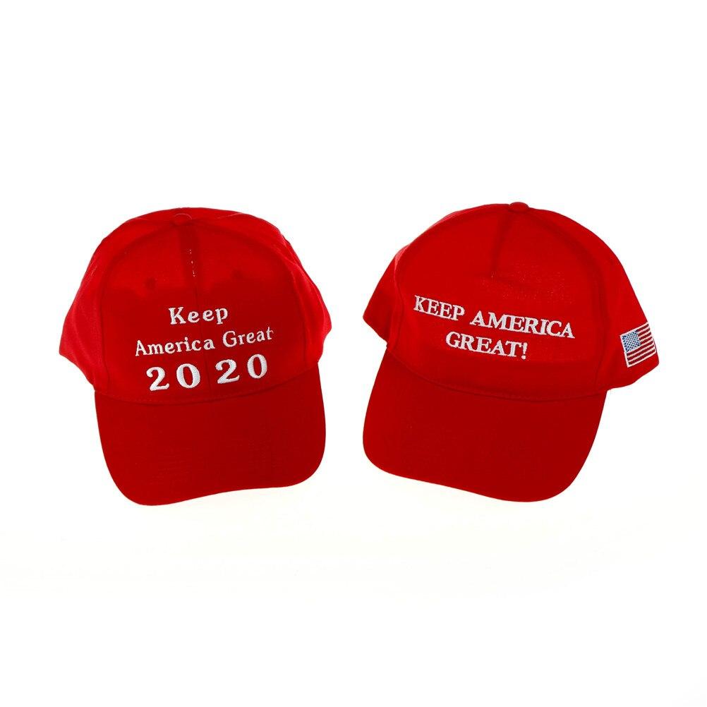2020 Donald Trump sombrero rojo reelección mantener América bordado ee.uu.  bandera MAGA algodón 79beececa2f
