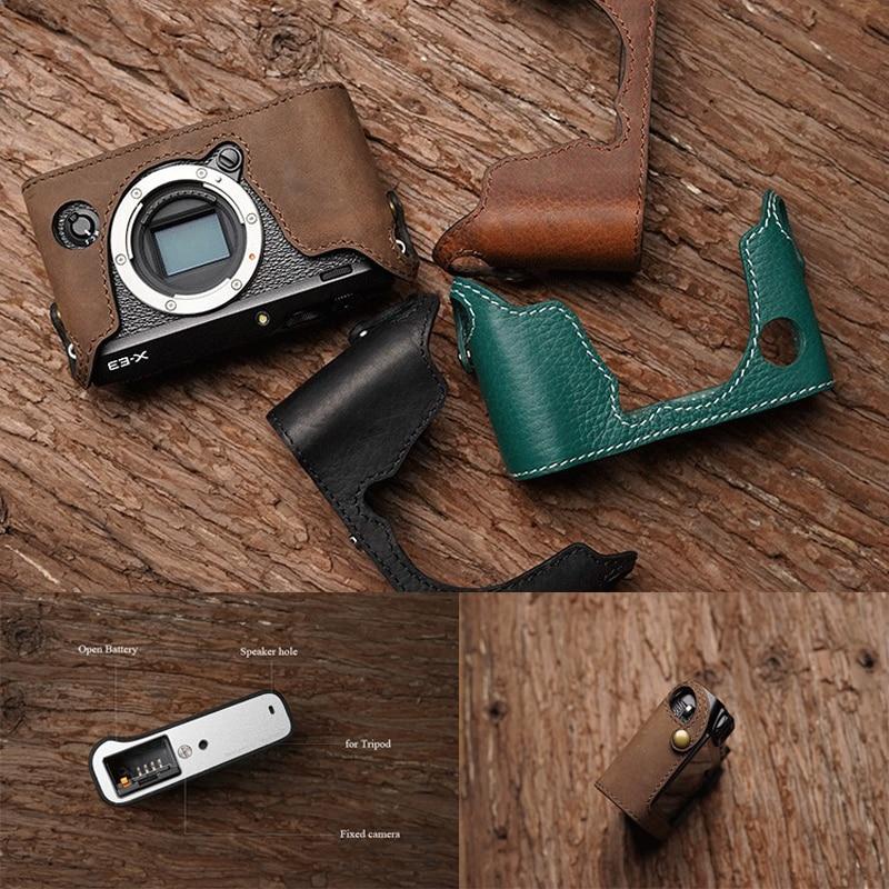 Mr Stone Genuine Leather Camera case Handmade Video Half Bag For Fuji XE 3 Fujifilm XE3