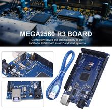 цена на MEGA2560 R3 Improved Version  ATmega2560 R3 CH340G USB Board Compatibile with Win7 Win8 with 30CM Data Cable
