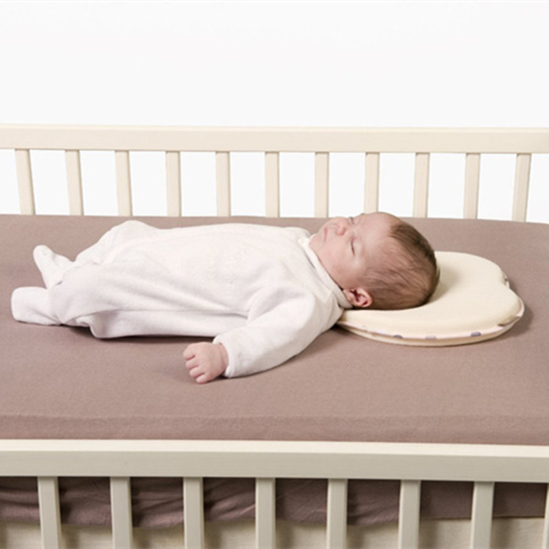 아기 기억 거품 베개는 편평한 맨 위 유아 베개를 지원한다 신생 아기 반대로 편두통 베개 모양 아이 베개를 지원하십시오