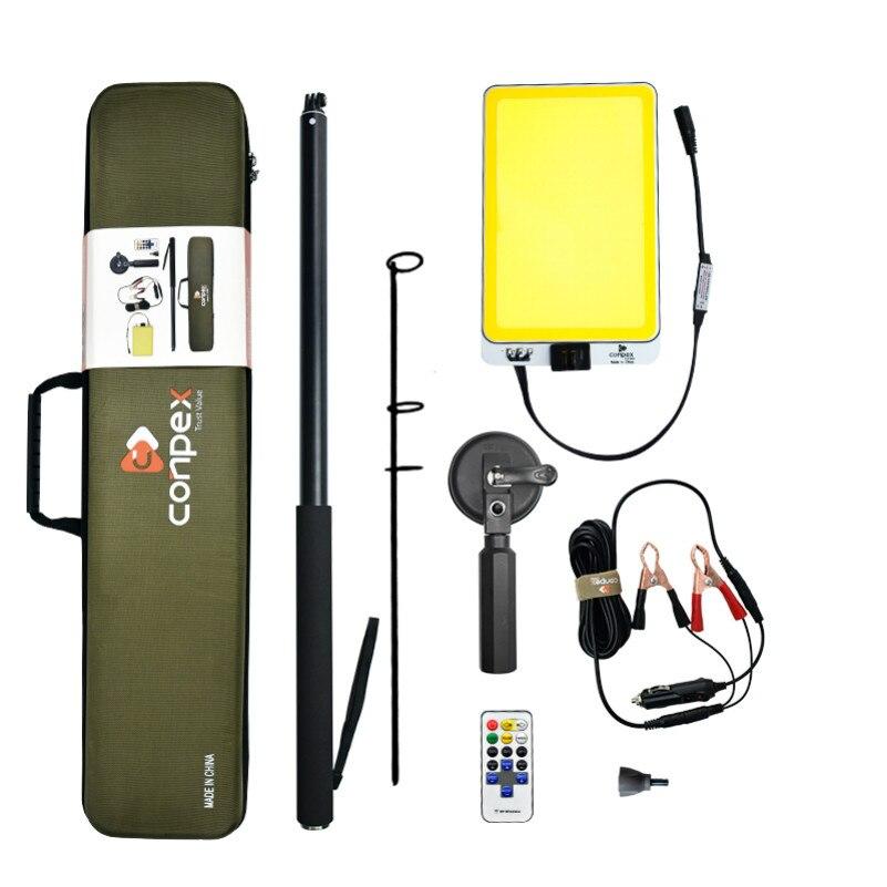 32 ワット 6900 ルクス COB LED フラッドライトポータブル伸縮ポールガーデンライト屋外キャンプスポットライト充電式ランプパネル dmx - GZ Camping lighting Store