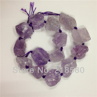 H CCB24 Natural Rough Quartz Amethysts Nugget Beads,Raw Crystal Beads Approx 16mm 26mm
