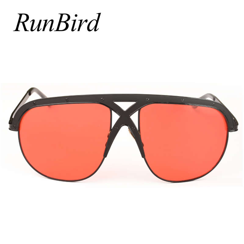 7367f9a2b45 Big Frame Sunglasses Men Classic UV400 Trend Stars Wear Red Lens Sun  Glasses Women Large Frame Outdoor Sunglass Goggle 1207R-in Sunglasses from  Apparel ...