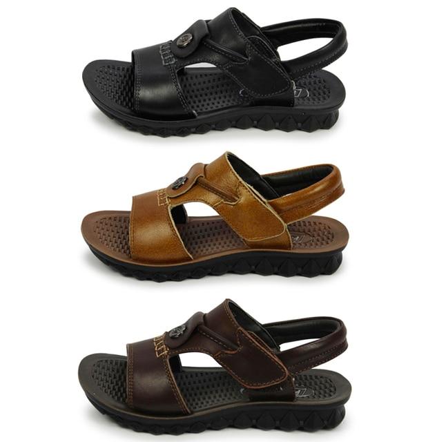 d86af28a770c0 Lanmao Brand kids boy New Salt Water Sandals Original Style Brown Black  Genuine leather leather child size13.5,1,2,3,3.5,4