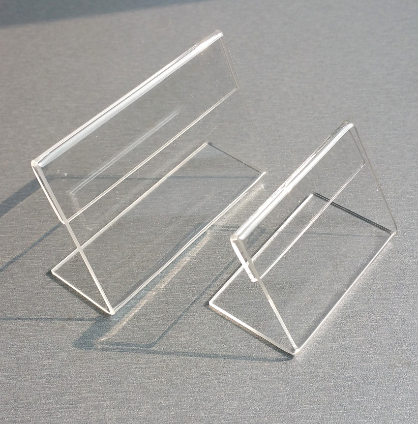 7x5cm Clear Acrylic Plastic Table Sign Price Tag Label Display Paper  Promotion Card Holders Thick 1.3mm L Stand 1000pcs In File Tray From Office  U0026 School ...