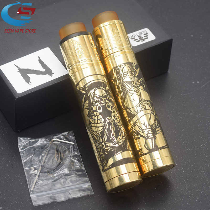 Original SUB TWO Mechanical Mod Kit Electronic cigarette Mech mod 18650 battery Brass 24mm Vapor Vaporizer vape VS sob mod kit