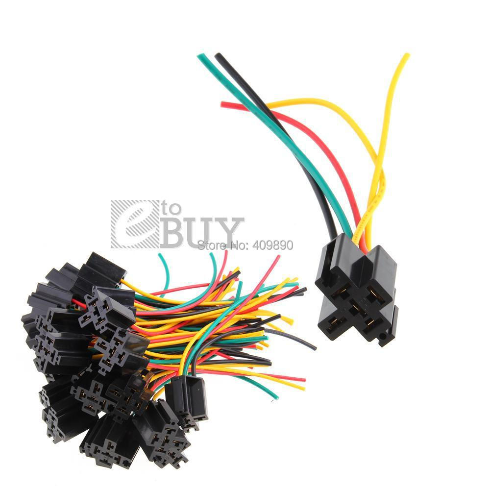Relay Socket Wire Promotion Shop For Promotional 12v 12 Volt 30 40a Spdt 5 Pin Automotive With Wiring 200pcs Lot Car Alarm