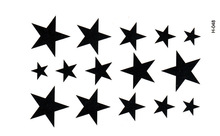 5pcs New Water Transfer Star Waterproof Temporary Tattoo Sticker Sexy Product 10.5*6cm tatoo stickers free shipping