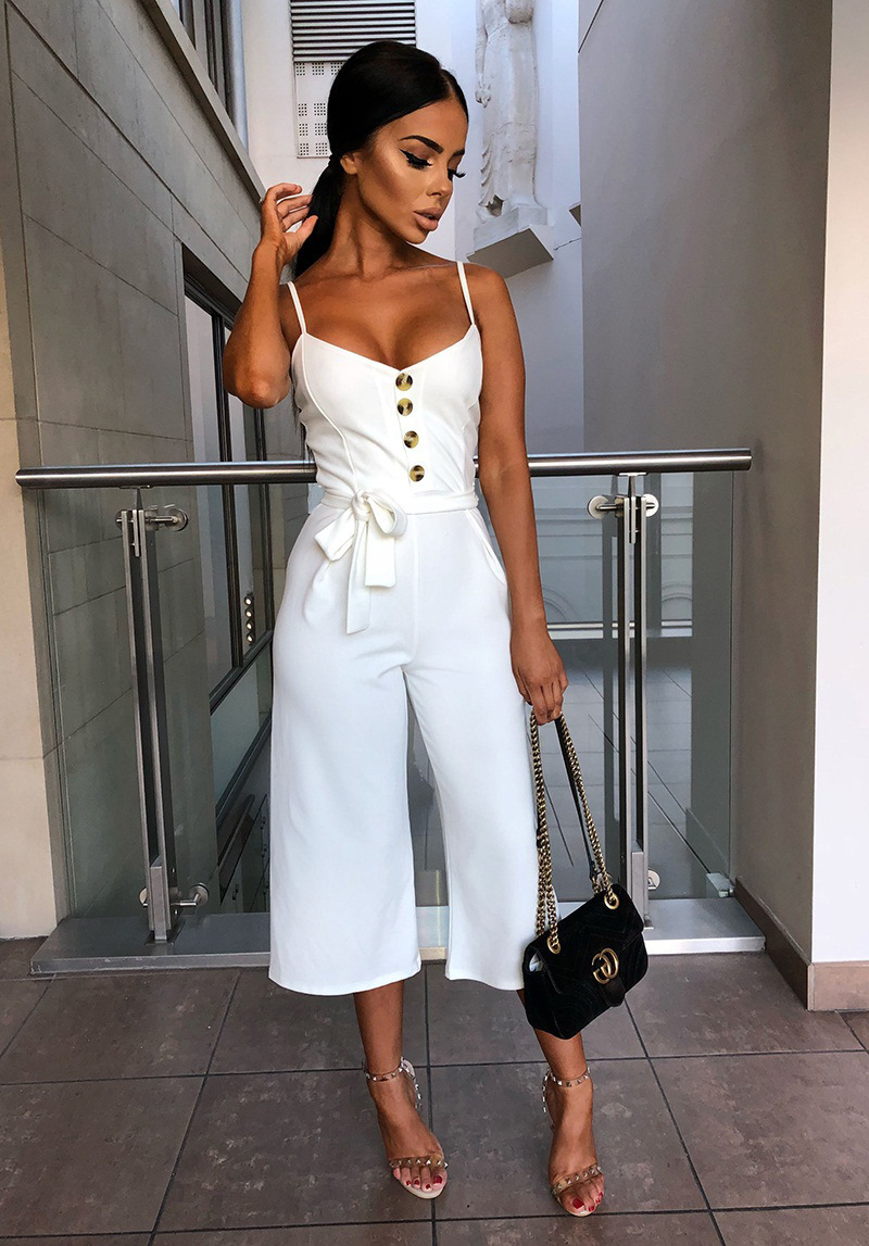 Woman Set Lady Sexy Halter Sling Jumpsuit Fashion Street wear