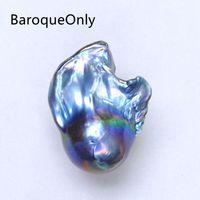 BaroqueOnly барокко ядерный хвост жемчуг павлин синий специальный цвет около 13 ~ мм 20 мм пресноводный натуральный жемчуг Diy материалы BZK