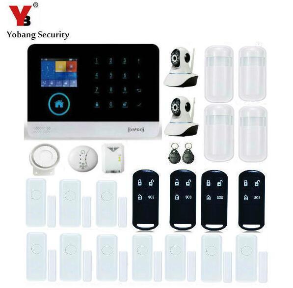 Yobang Security-WIFI/GSM//GPRS Intranet Alarm System Voice Prompts APP Alarmas Smoke Gas Leakage Detector HD Network Camera wireless smoke fire detector for wireless for touch keypad panel wifi gsm home security burglar voice alarm system