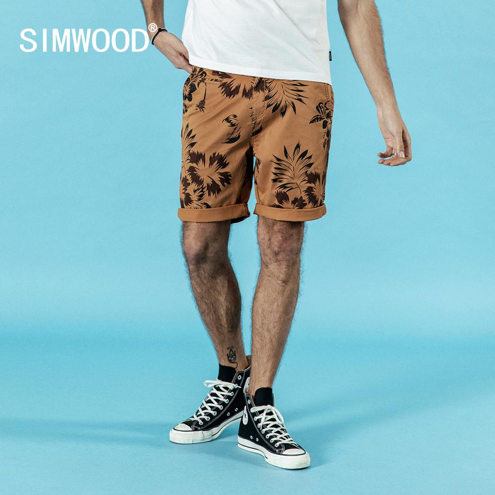 SIMWOOD 2019 summer new hawaii   shorts   men casual fashion beach holiday print   shorts   high quality plus size brand clothing 190189
