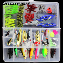 JACKFISH Fishing Lure Combined Minnow/Popper/Wobbler Spoon Steel Lure Smooth Bait 101pcs/lot Fishing Lure Equipment Isca Synthetic Bait
