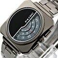 Marca Casual Assista Relógios dos homens de Quartzo Relógio Digital de Homens de Aço Completa relógios de Pulso reloj Relogio masculino