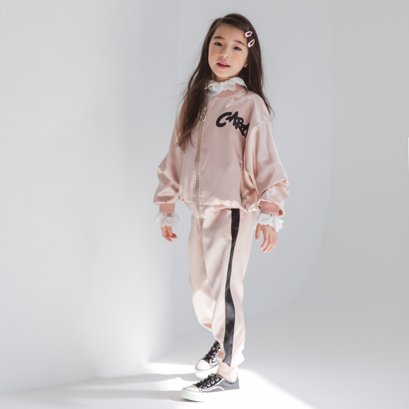 Teens Girl 2pcs Set Clothing Active Jackets And Pants New Designs Autumn Zipper Coat & Trousers Clothes Set 8 10 12 14 Years Old alfani new olive pull on zipper pants 14 $69 5 dbfl